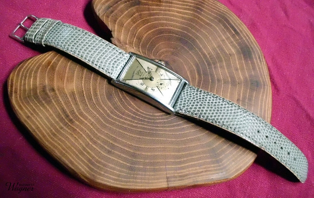 Lizard leather strap.