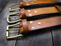 brass rivet belt
